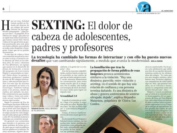 reportaje sexting El Mercurio